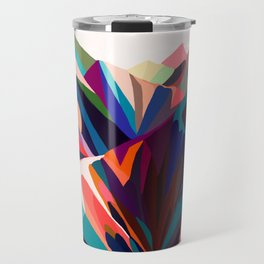 Mountains sunset warm Travel Mug