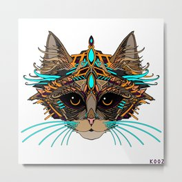 KING OF CATS Metal Print
