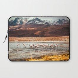 Flamingo Lake, Bolivia #society6 #buyart #homedecor Laptop Sleeve