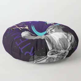 Ancient Gods and Planets: NASA Artemis program Floor Pillow