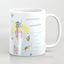 Otter at the sea Coffee Mug