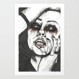 """""""Vampire Girl"""" Art Print"""