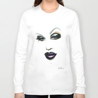 rupaul Long Sleeve T-shirts featuring Sharon Needles by Justin Van Pelt