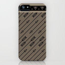 Arrows Flying (Gray Black) iPhone Case