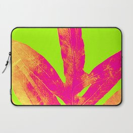 Green and Ultra Bright Coral Fern Laptop Sleeve