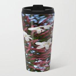 Pink Buds and Jasmine Blossom Close Up Travel Mug