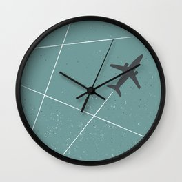The Jet Set - Lagoon Blue Wall Clock