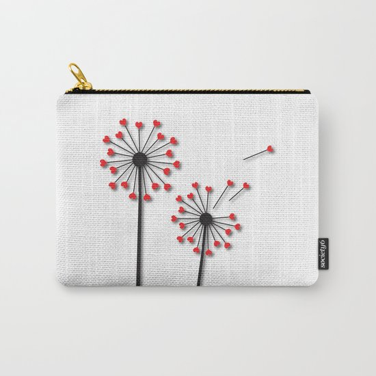 Dandelion Hearts Carry-All Pouch