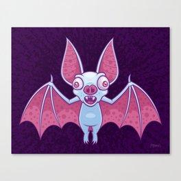 Albino Vampire Bat Canvas Print