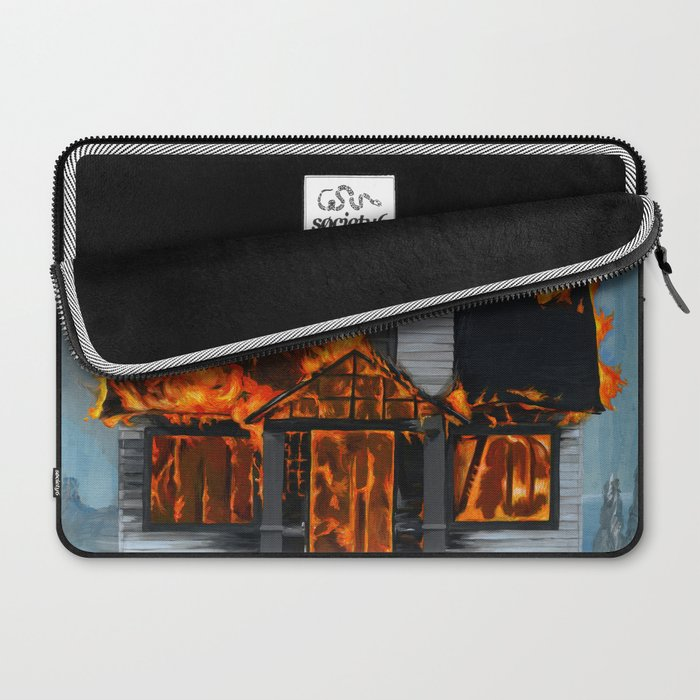 House on Fire Laptop Sleeve