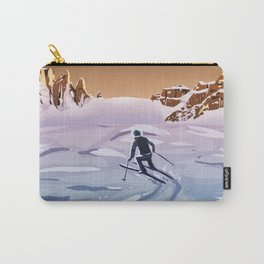 Skiing on Mars Carry-All Pouch