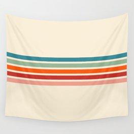 Minimal Abstract Retro Stripes 70s Style - Balangan Wall Tapestry