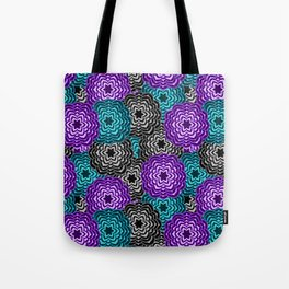 Dahlia Multicolored Floral Abstract Pattern Tote Bag