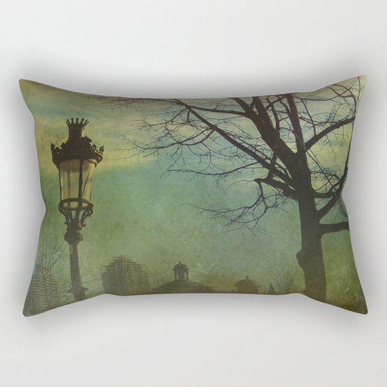 Once pon a time a park in Barcelona Rectangular Pillow