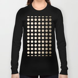 Simply Polka Dots in White Gold Sands Long Sleeve T-shirt