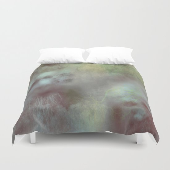 The ghosts of the cursed forest Duvet Cover