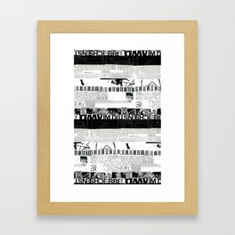 b&w stripes Framed Art Print