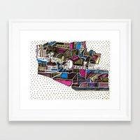 drunk Framed Art Prints featuring drunk by Mariana Beldi