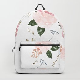Floral Blossom - Muted Pink Backpack