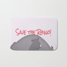 Save the Rhino Bath Mat