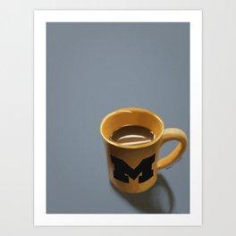 UMich Coffee Mug Art Print