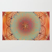 chakra Area & Throw Rugs featuring Sacral Chakra by brenda erickson