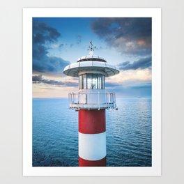 Lighthouse Photography Wall Art Print, Coastal, Nautical, Beach Home Decor, Large Printable Poster,  Art Print