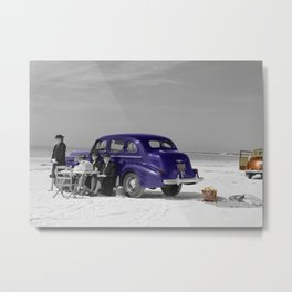 Picnic on the Beach Metal Print