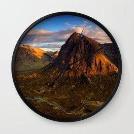 Brown Landscape Wall Clock