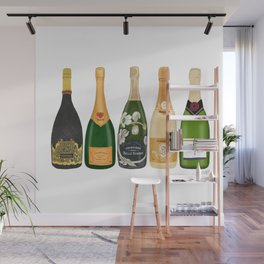 Champagne Bottles Wall Mural