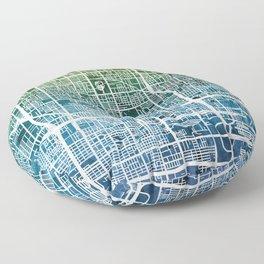 Phoenix Arizona City Map Floor Pillow
