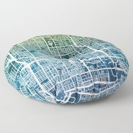 Phoenix Arizona City Map Floor Pillow