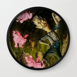 The Demon of Round Cypress Wall Clock