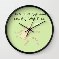 motivation Wall Clocks featuring Dance Motivation by Sophie Corrigan