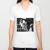 bane V-neck T-shirts featuring Bane by DeMoose_Art