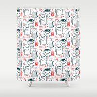 cook Shower Curtains featuring Cook! by Bethany Thompson