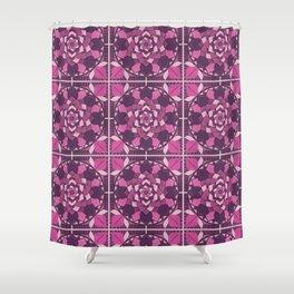 Mandala Flower Tiles Shower Curtain