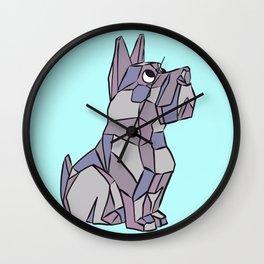 Cubist Pup Wall Clock