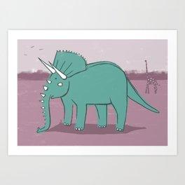 Elephantops. Art Print