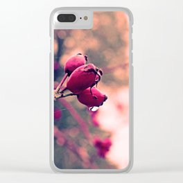 Berrys in the November rain Clear iPhone Case