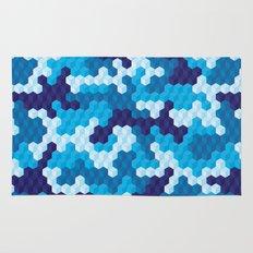 CUBOUFLAGE BLUE Rug