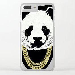 PANDA--CHAIN Clear iPhone Case