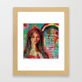 She woke up Framed Art Print