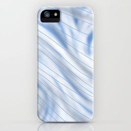 Blue Stripe on Blue Swirl iPhone Case
