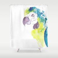 greg guillemin Shower Curtains featuring Greg  by Tatiana Shaffer