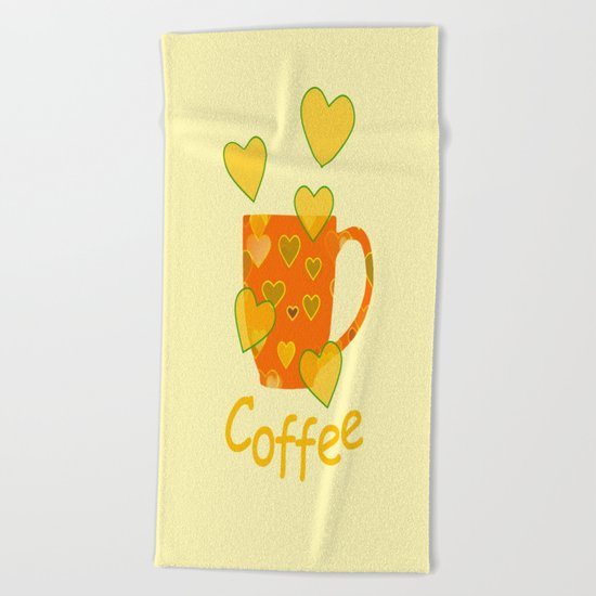 Coffee Fanatic Beach Towel