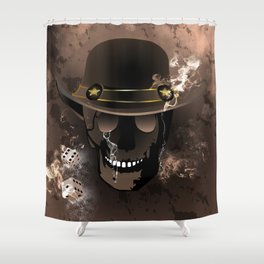 The skull fighter Shower Curtain