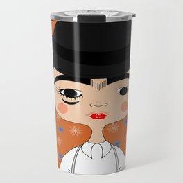 Orange Kahlo Travel Mug