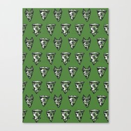 Green Monster Slice Canvas Print