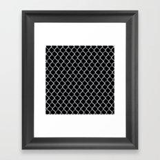 Chain Link on Black Framed Art Print